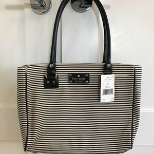 New Kate Spade striped purse